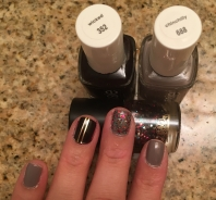 Essie in wicked + chinchilly, Blitzy in prance & dance