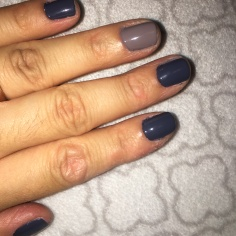 Essie - Blue Shade in 'Anchor Down' and Gray Shade in 'Chinchilly'