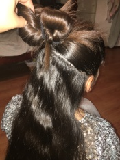 1- Upside Down French Braid with Braid Bun On Top