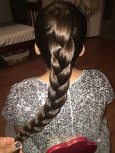 5 - Upside Down French Braid with Braid Bun On Top