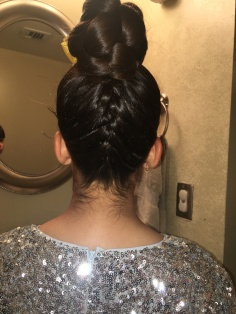 6 - Upside Down French Braid with Braid Bun On Top