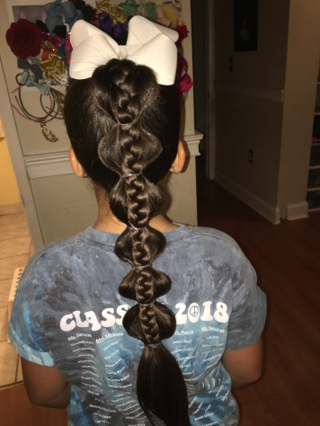 Bubble Braid with Accent Braid